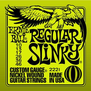 Ernie Ball 2221  Regl. Slinky 010 - 046 snarenset