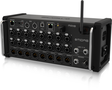 Midas MR18  18-Input Digital Mixer for iPad/Android Tablets with 16 MIDAS PRO Preamps, Integrated Wifi Module and Multi-Channel USB Audio Interface