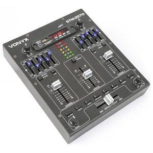 Vonyx STM2270 4-Kanaals Mixer Geluidseffecten SD/USB/MP3/BT