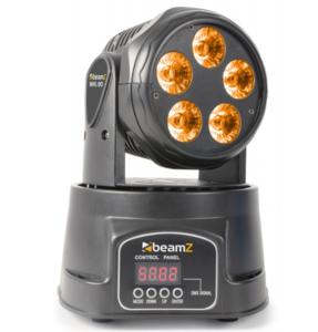 BeamZ MHL90 Mini Moving Head Wash 5x 18W RGBAW-UV LED's